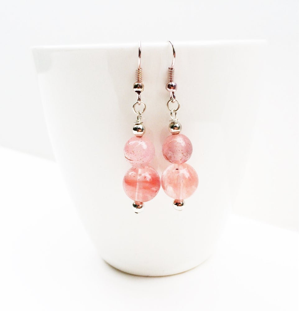 Image of Double Stone Quartz Earrings