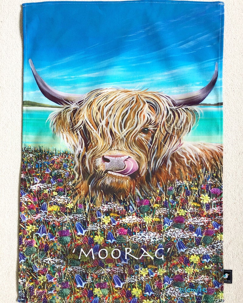 Image of Moorag cow tea towel