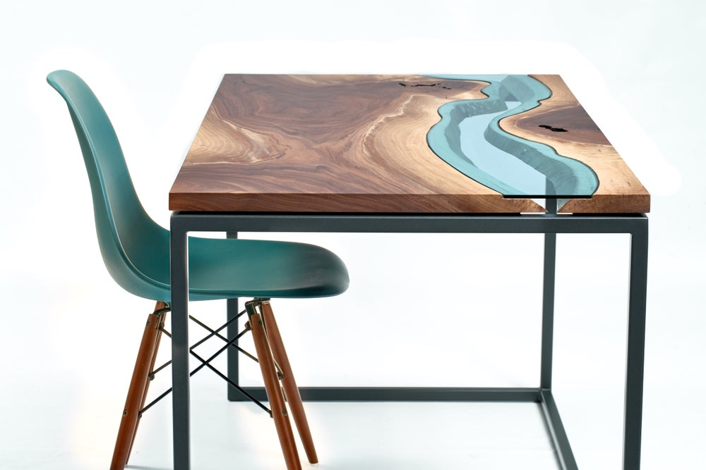 Image of walnut river desk