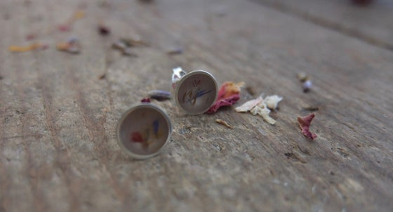 Image of Bespoke stud earrings as part of my Memories  Collection