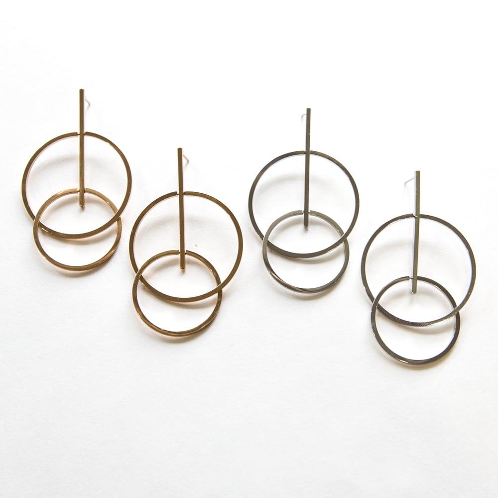 Image of The Double Hoop Drop Earring