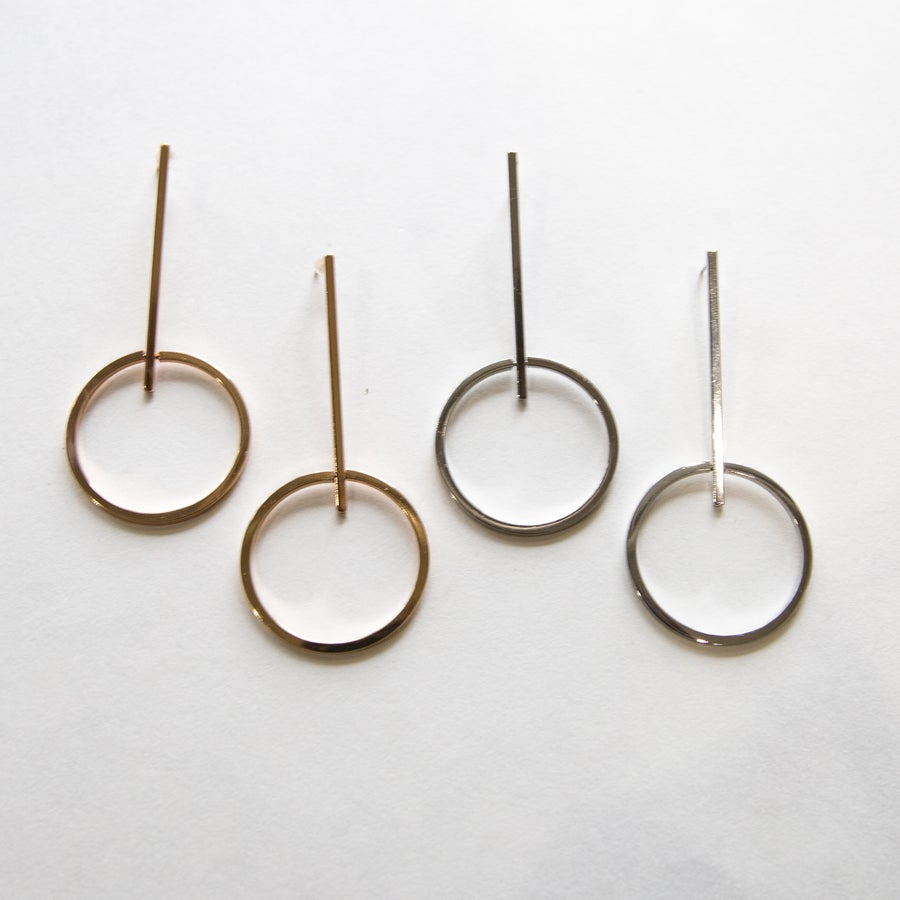 Image of The Single Hoop Drop Earring
