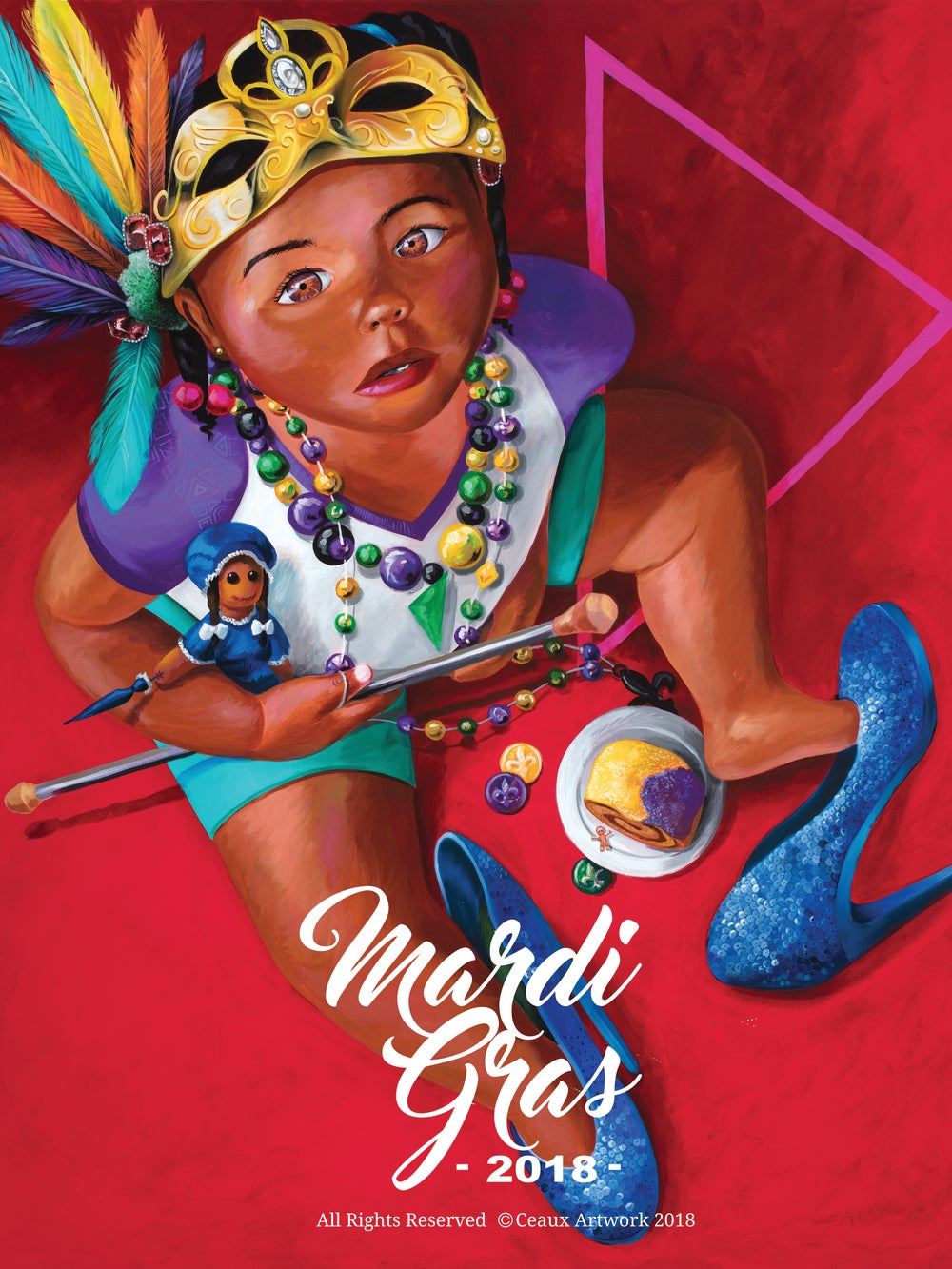 Image of Mardi Gras Poster 2018