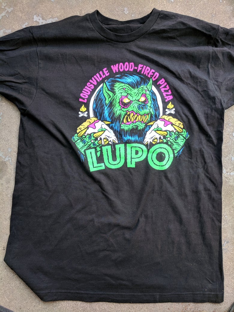 Image of Pizza Lupo Wolfman Shirt