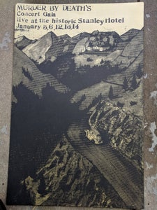 Image of Stanley Hotel poster 2018 gold ink!