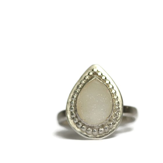Image of Silver druzy ring