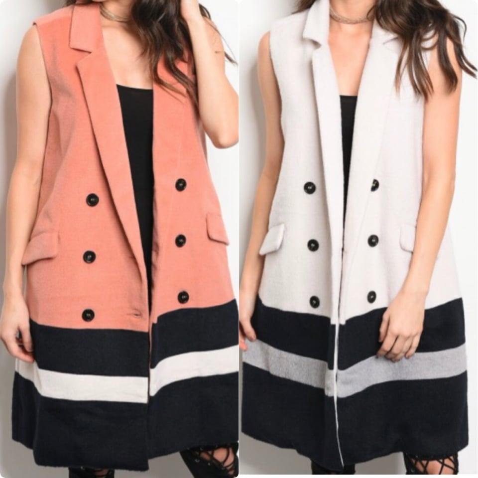 Image of Wool Blend Sleeveless Vest