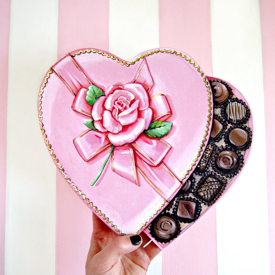 Image of Valentine Candy heart box