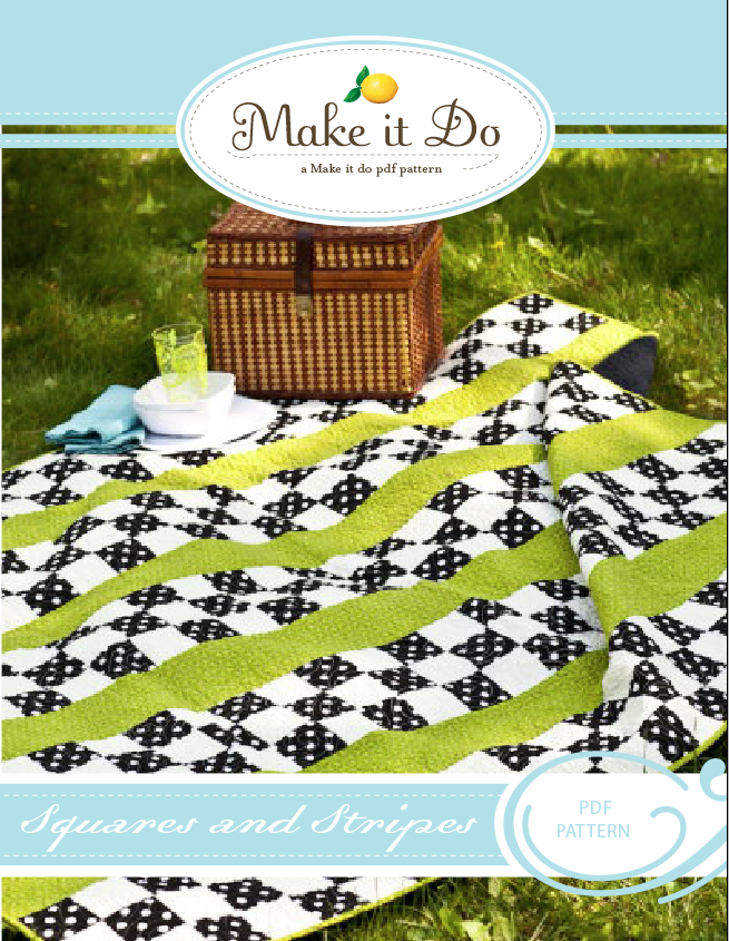 Image of Squares and Stripes PDF Quilt Pattern