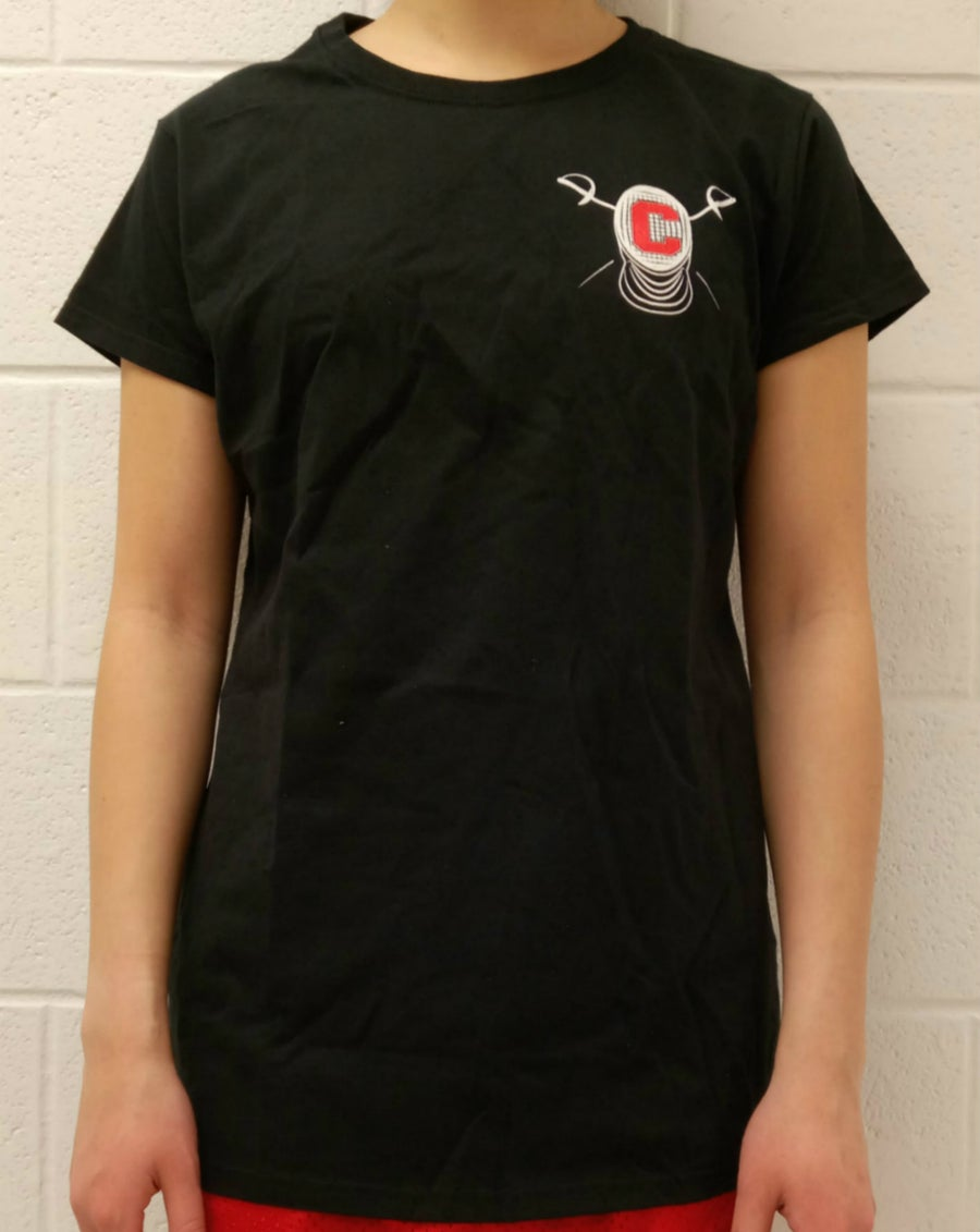 Image of Cornell Fencing T-Shirt w/ Block C Mask