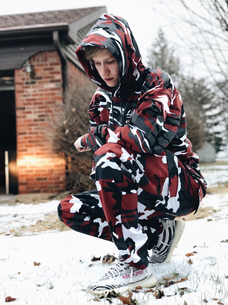 Image of Lifted & Gifted Red Camo Hoodie