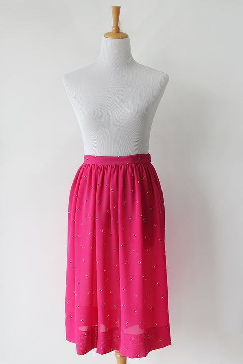 Image of SOLD Pink Geometric Dynamic Squares Skirt
