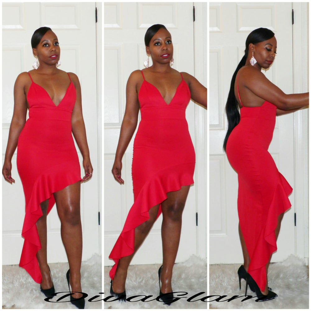Image of RED ROMANCE DRESS