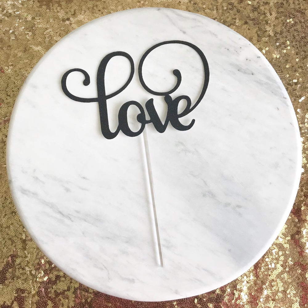 Image of Love Cake Topper