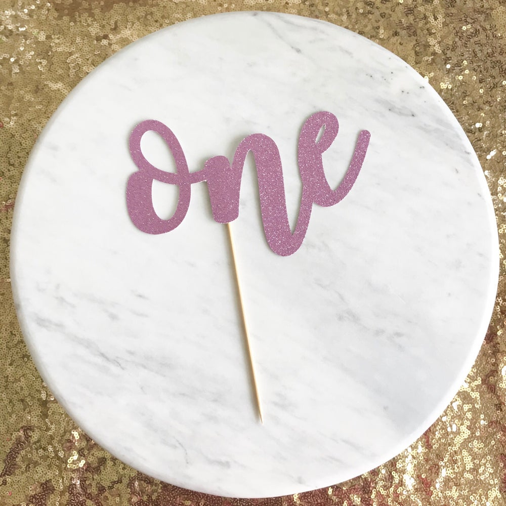 Image of One Cake Topper