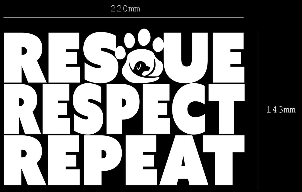 Image of RESCUE RESPECT REPEAT Sticker/Decal - Supporting GAAR SA INC.