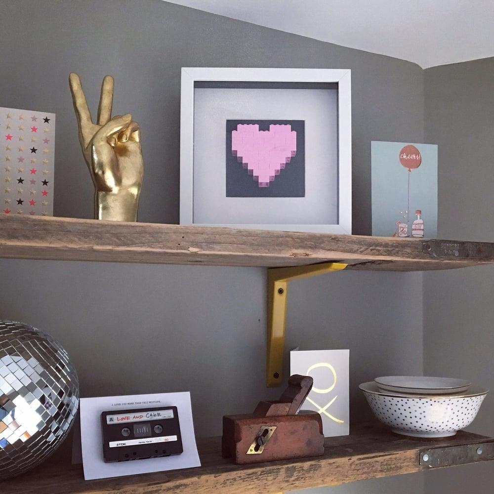 Image of Framed Pink Lego® Heart