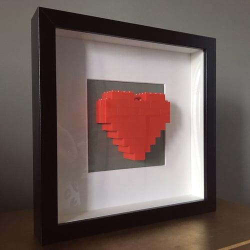 Image of Framed Red Lego® Heart