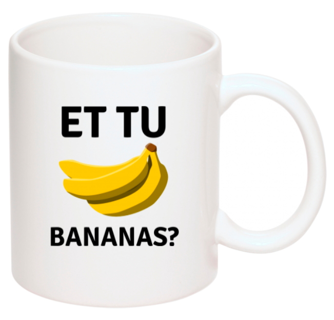 "Image of ""Et Tu, Bananas?"" Coffee Mug"