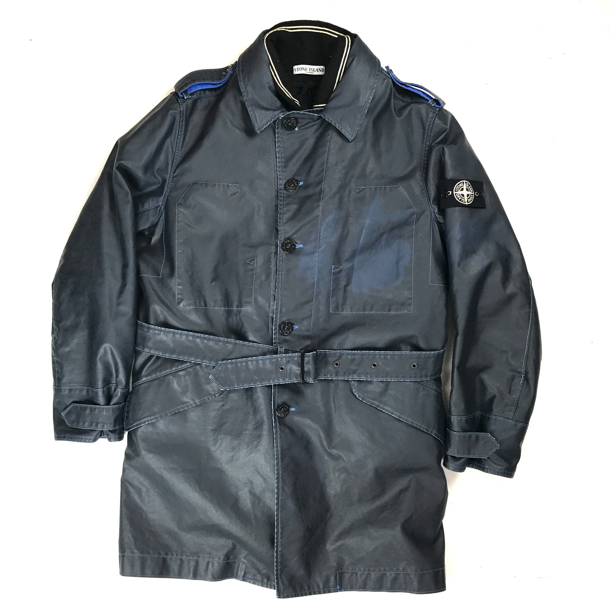 hottest sale 2020 100% authentic Stone Island AW/2008 Waxed Ice Trench Coat