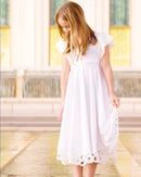 Image 3 of Girls White Special Day Twirly Dress