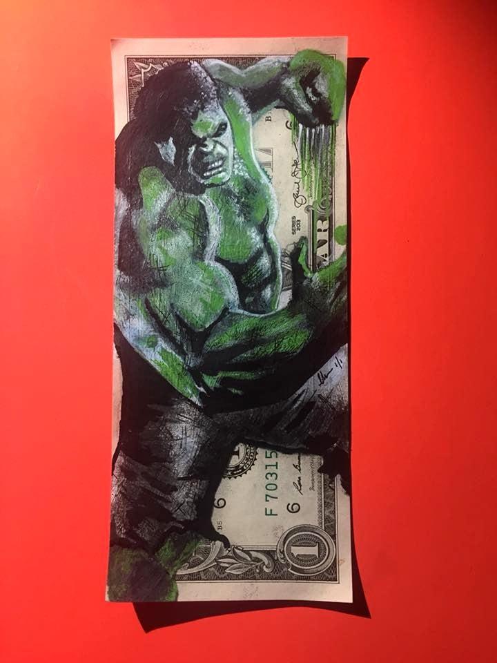 Image of Hulked Money Art