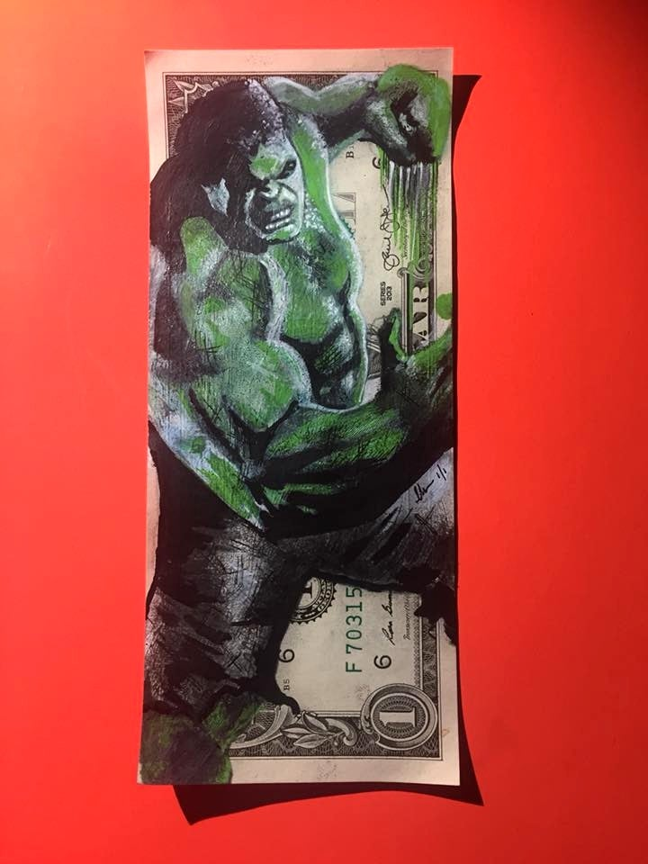 Image of Hulked Money Art