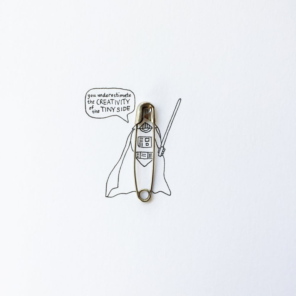 Image of Darth Vader Safety Pin