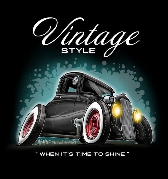 Image of Vintage Style 5 window coupe