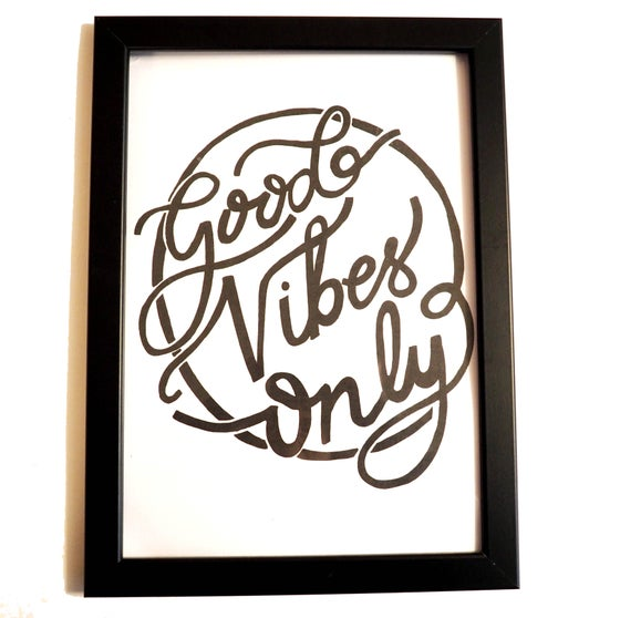 Image of good vibes only A4 print