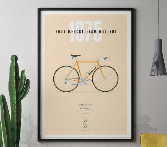 Image of Merckx's Molteni A3 or A4 print  - by Parallax
