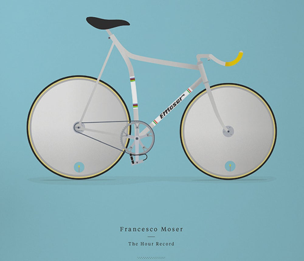 Image of Moser's track bike A3 or A4 print - by Parallax