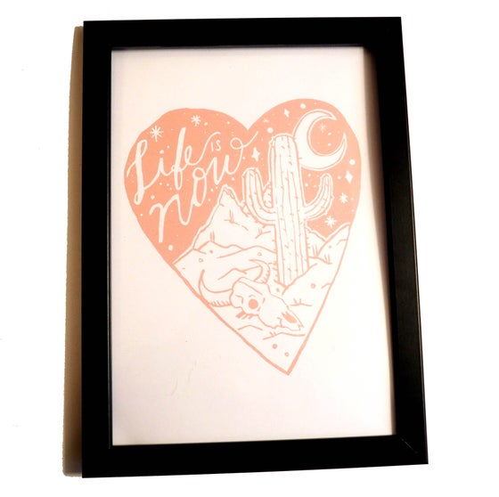 Image of life is now pink A4 Print