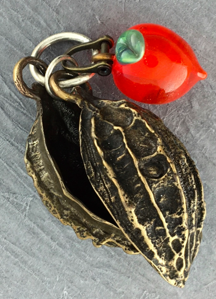 Image of Butternut with Lampworked Pod