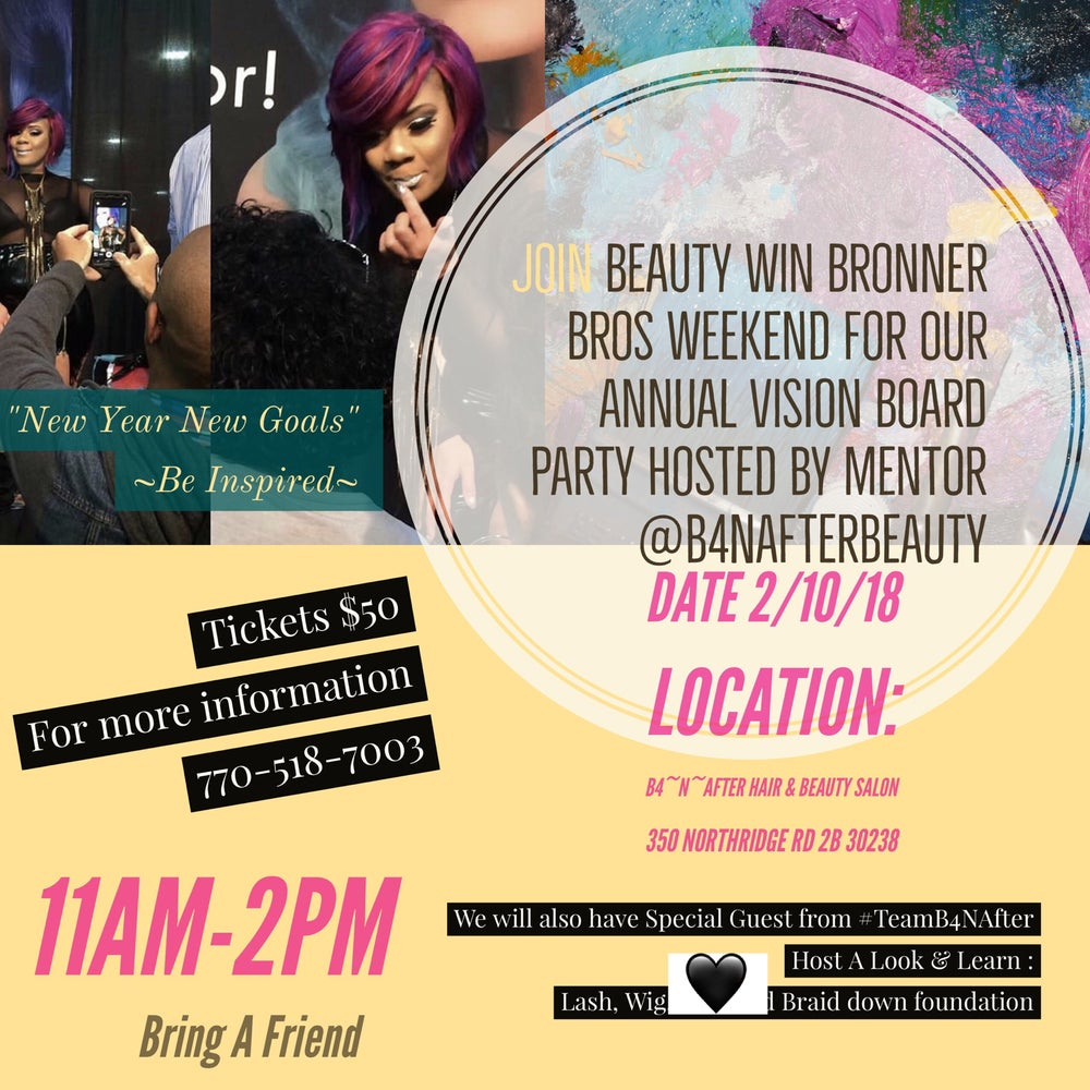 Image of Beauty Win's Annual Vision Board Party