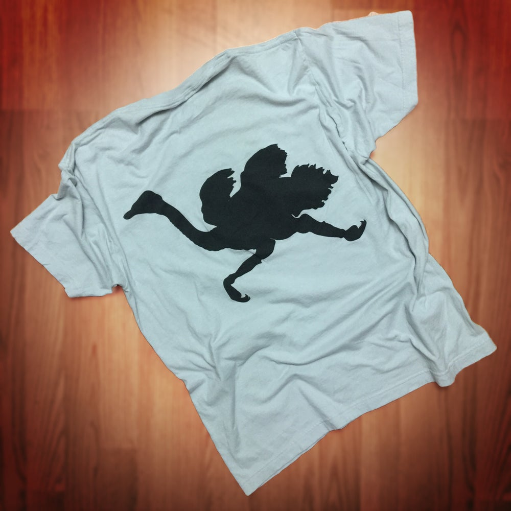"Image of Old English ""Big Bird"" tee (platinum/black)"