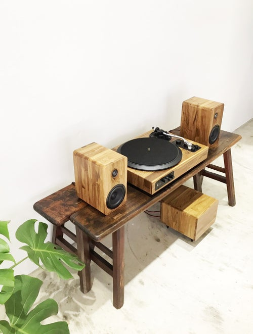Image of TT8 - The Best Wooden Multi-Functional Turntable Audio System