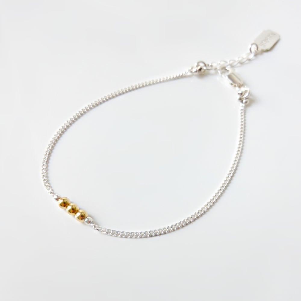 """Image of Bracelet argent et plaqué or """"Polka"""""""