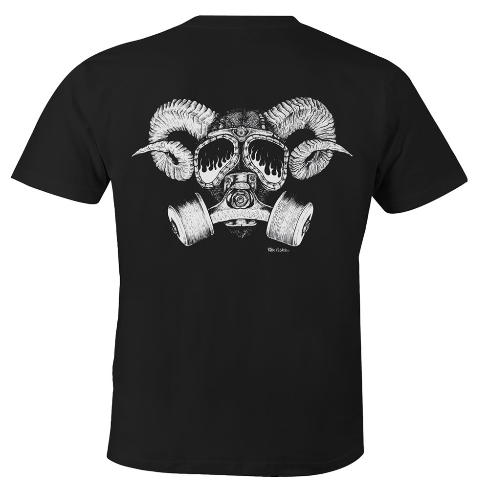 "Image of Confusion - ""Goat Skull Gas Mask"" tee [black]"