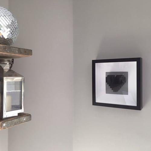 Image of Framed Black LEGO® Heart