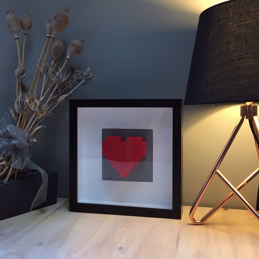 Image of Framed Red Lego® Heart