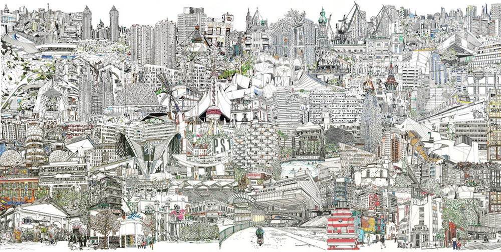 Image of Last Night on Earth full city scape giclee print