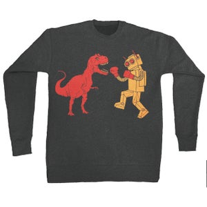 Image of Dinosaur Vs Robot Sweatshirt