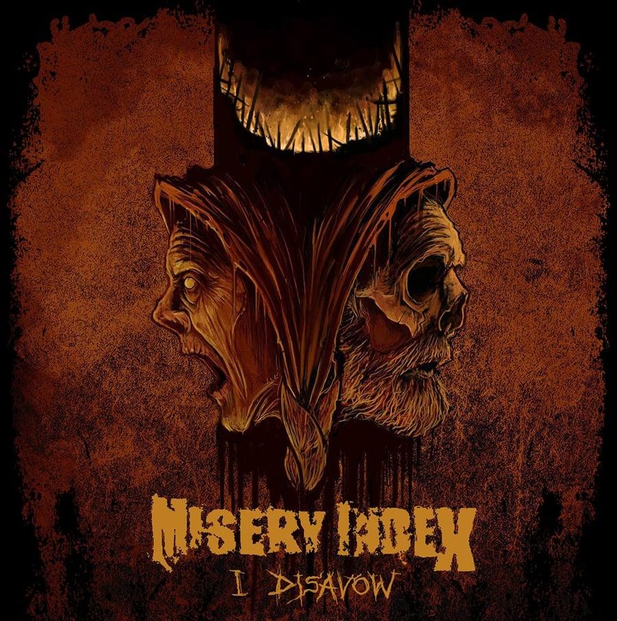 "Image of Misery Index ""I Disavow"" 7"" VIT051 in Black or Bone White Preorder Feb 2"