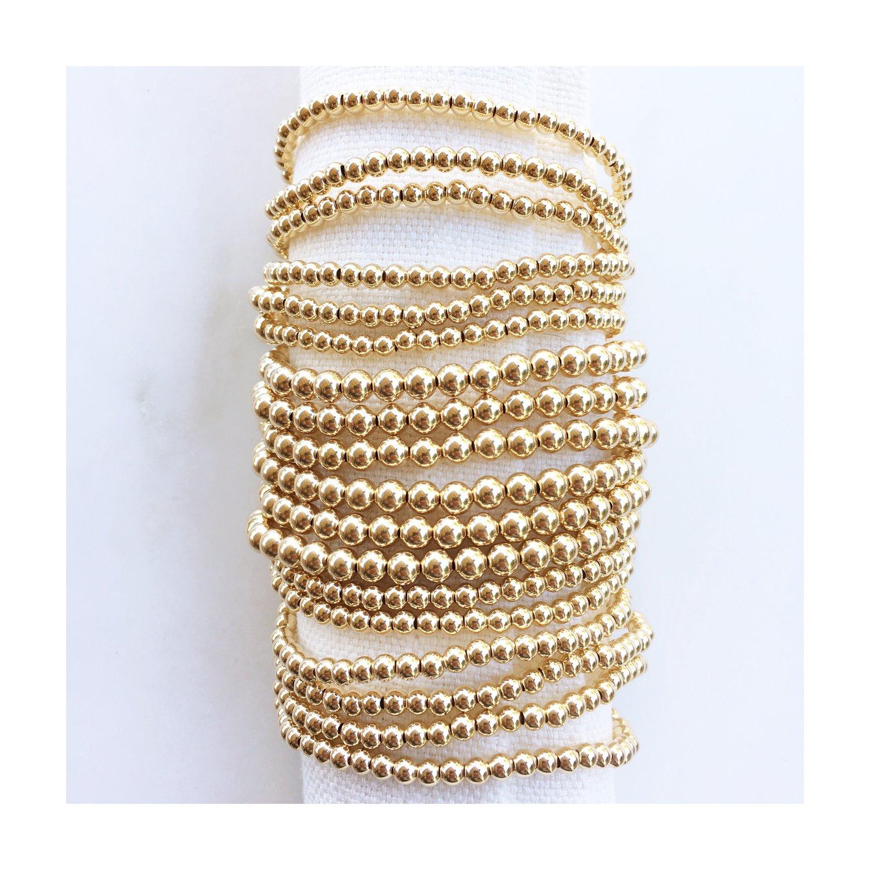 TenThings. SMALL GOLD. 4mm. Bracelet. B-GLD4MM