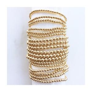 Image of TenThings. Medium. 5mm GOLD. Beaded. Bracelet. B-GLDBD5MM
