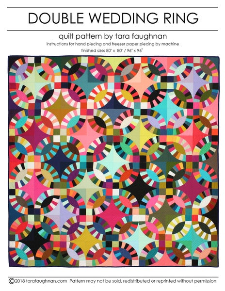 Image of Double Wedding Ring quilt Pattern
