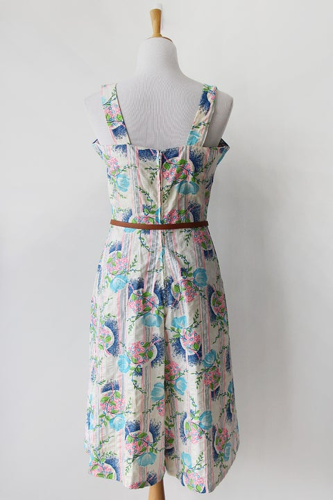 Image of SOLD Vintage Wallpaper Gaucho Pant Sundress