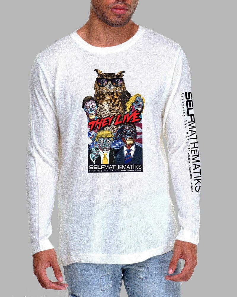 Image of THEY LIVE (HOMAGE) LONG SLEEVE CLASSIC T ORIGINAL