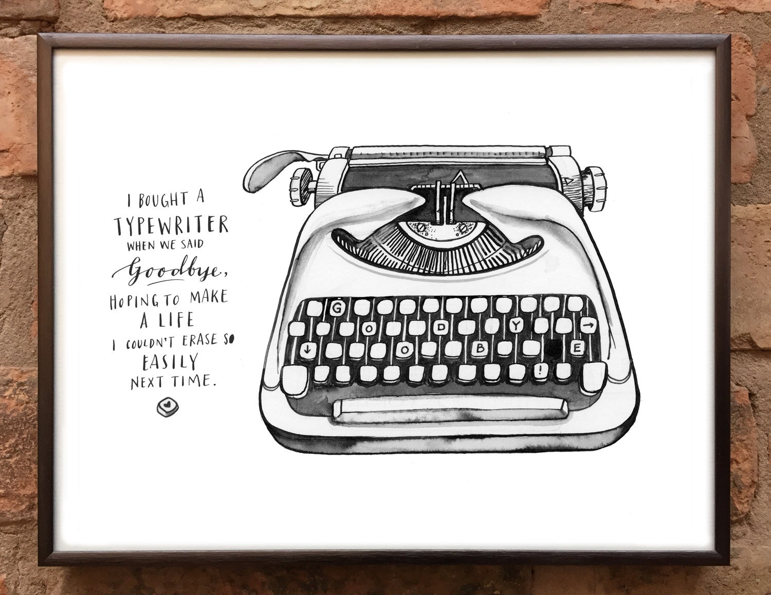 Andrea Gibson Print: 'Typewriter' / A4